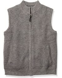 Pendleton Shetland Zip Sweater Vest - Gray