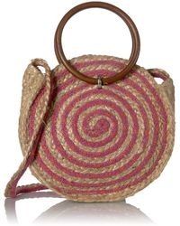 Circus by Sam Edelman Zowie Stripe Round Shoulder Bag - Pink