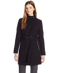 Kenneth Cole - Oxford Ponte Trench Coat - Lyst