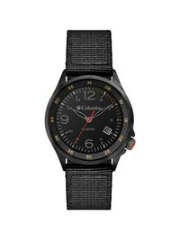 Columbia Canyon Ridge Stainless Steel Quartz Watch With Nylon Strap - Black