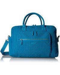 Vera Bradley Softside Weekender Travel Bag - Blue