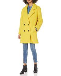 Steve Madden Wool Fashion Coat - Yellow
