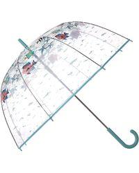Vera Bradley Auto Open Bubble Umbrella - Blue