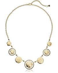 Judith Jack - Sterling Silver/swarovski Marcasite Gold-tone Frontal Necklace - Lyst