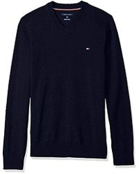 Tommy Hilfiger - Big & Tall Solid Long Sleeve Sweater - Lyst