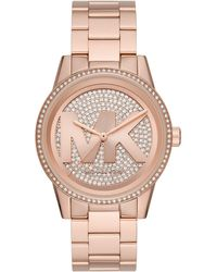 Michael Kors Ritz Quartz Watch With Stainless Steel Strap - Pink