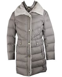 Kenneth Cole Puffer Coat With Faux Shearling Collar - Multicolor