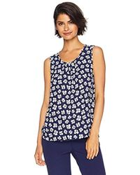 1ccc71632a2a6 Anne Klein - Sleeveless Blouse With Neck Shirring - Lyst
