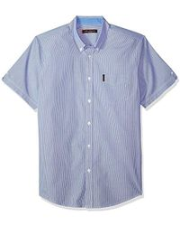 Ben Sherman - Short Sleeve Micro Pin Stripe Shirt - Lyst
