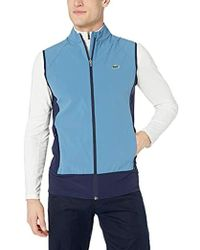 Lacoste - Sport Golf Color Blocked Stretch Woven Vest - Lyst