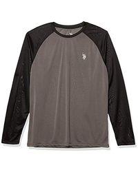 U.S. POLO ASSN. Long Sleeve Upf Swim T-shirt - Gray