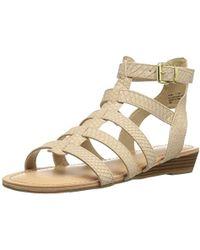 Madden Girl Trary Gladiator Sandal - Natural