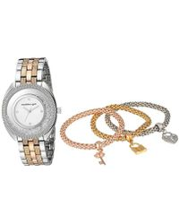Steve Madden - Smgs017m1 Analog Display Watch Set - Lyst