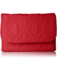 Vera Bradley Rfid Riley Compact Wallet Vera - Red