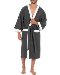 Izod Big & Tall Waffle Knit Kimono Robe - Multicolor