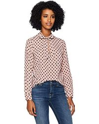 Adrianna Papell Long Sleeve Tie Neck Blouse - Multicolor