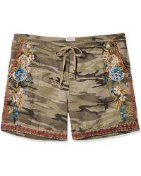 Johnny Was Hira Linen Shorts - Green