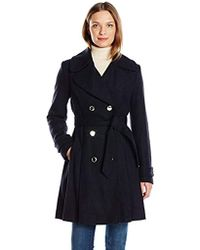 Jessica Simpson - Wrap Double Breasted Peacoat - Lyst