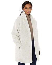 Daily Ritual - Amazon Brand - Teddy Bear Fleece Lapel Coat - Lyst