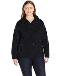 Columbia Size Benton Springs Pea Coat Plus - Black