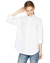 Hurley Plaid Collared Long Sleeve Button Down Shirt - White