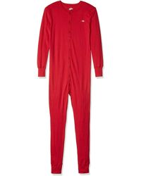 Dickies Heavyweight Union Suit - Red