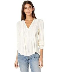 Lucky Brand - Lace Mix Drop Needle Top - Lyst