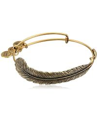 ALEX AND ANI - Spiritual Armor Plume Bangle Bracelet - Lyst