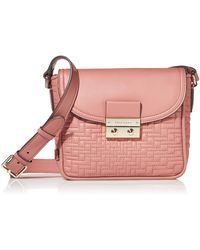 Cole Haan Lock Quilted Crossbody - Pink