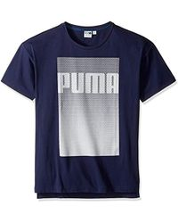 PUMA - Evo Longer Line Logo Tee - Lyst