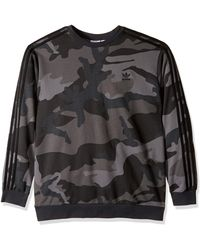 adidas Originals Camo Crewneck Sweatshirt - Gray