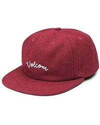 Volcom Wooly Adjustable Hat - Red