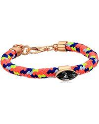 Rebecca Minkoff - Climbing Rope Stone Bracelet - Lyst