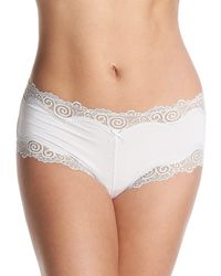 Maidenform Microfiber With Lace Boyshort Panty - Multicolor