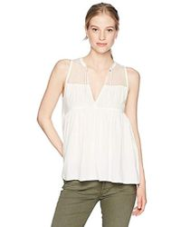 00817213a32c37 Volcom - Sea Y around Sleeveless Blouse Top - Lyst