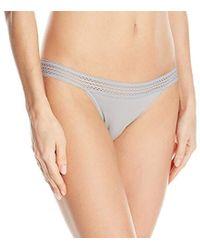 DKNY - Classic Cotton Lace Trim Bikini - Lyst