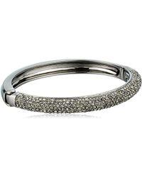 "Nina ""pave"" B-aaron Black Rhodium/diamond Bracelet"
