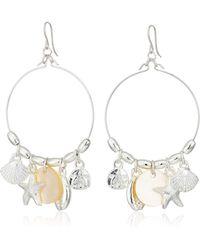 ALEX AND ANI Earrings Chandelier Hoop Dangle Crystal Retired Samples Rare  ❤️