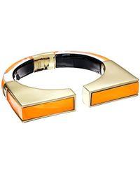 Alexis Bittar - Inlaid Geometric Brake Hinge Cuff Bracelet - Lyst
