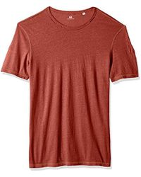 AG Jeans Ramsey Short Sleeve Crew Tee - Red