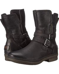 bd0bf1914ae UGG Women's Simmens Waterproof Belt Boots - Black - Size 5 - Lyst
