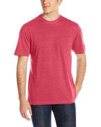 Izod Doubler Crew Neck Solid Short Sleeve Tee - Red