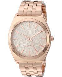 Nine West Rose Gold-tone Bracelet Watch, Nw/2384rgrg - Metallic