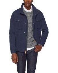 UGG M Cohen Waxed Cotton Jacket - Blue