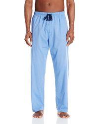 Hanes Big-tall Woven Plaid Sleep Pant - Blue