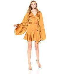 Keepsake - Romance Long Sleeve Mini Wrap Dress - Lyst