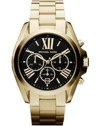 Michael Kors Bradshaw Goldtone Stainless Steel Women's Chronograph Watch - Metallic