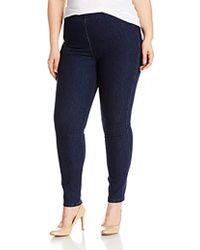 Joan Vass - Plus Size Stretch Ankle Denim Pant - Lyst