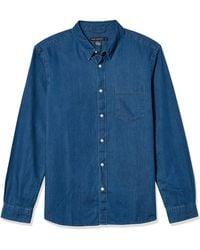 French Connection Cotton Denim Shirts - Blue