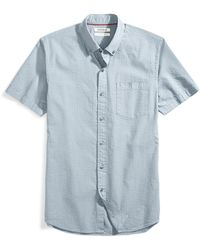 Dickies Men/'S Short Sleeve Chambray Shirt With Contrast Collar